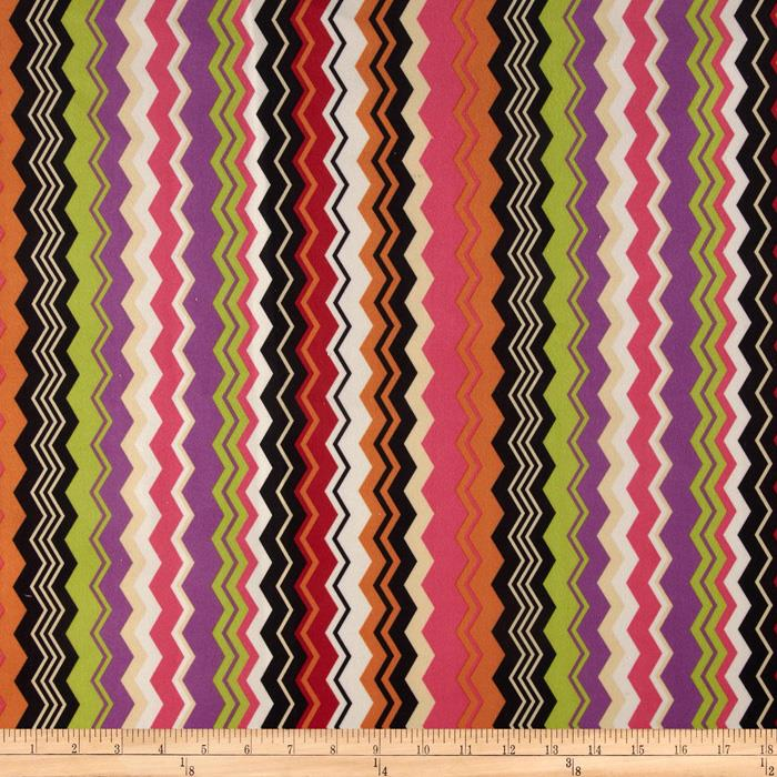 Regal Carson Chevron Stripe Microfiber Fiesta