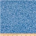 Timeless Treasures Minky Softie Scrolls Blue