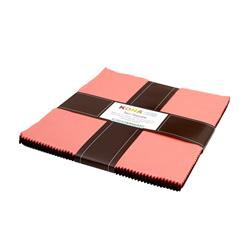 "Kaufman Kona Solids Cherrywood 10"" Layer Cake"