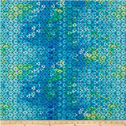 Kanvas Blue Paradise/Sundrenched Patio Trellis Blue