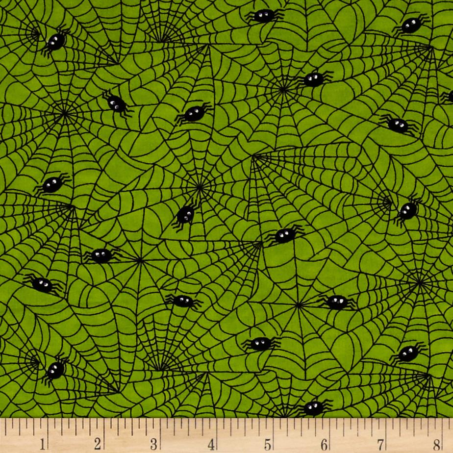 Moda Midnight Masquerade Spiders, Spiders Slime Green