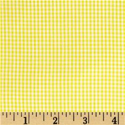 Cotton Gingham Check 1/16'' Yellow/White