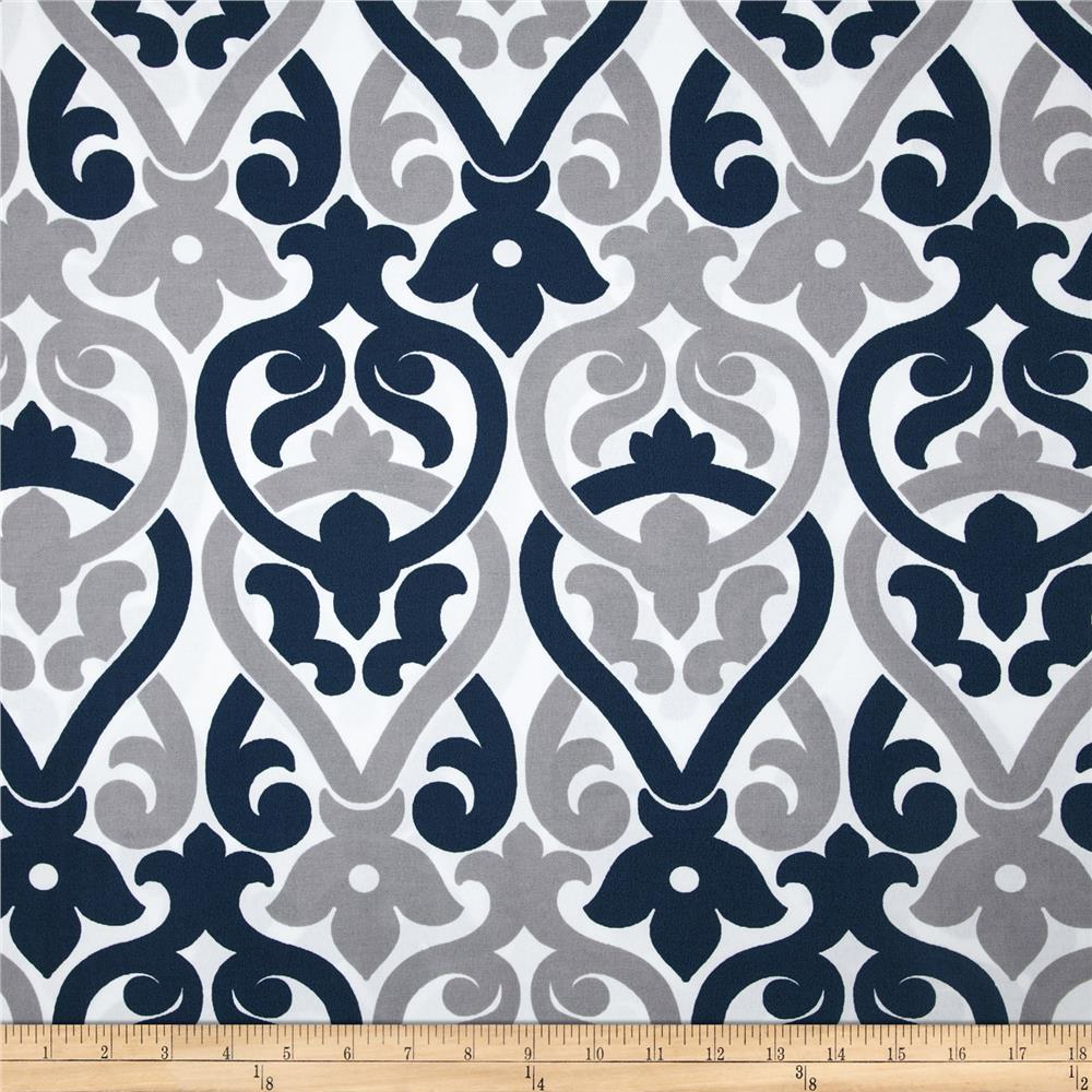Premier prints indoor outdoor alex oxford grey discount for Outdoor fabric