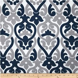 Premier Prints Indoor/Outdoor Alex Oxford/Grey Fabric