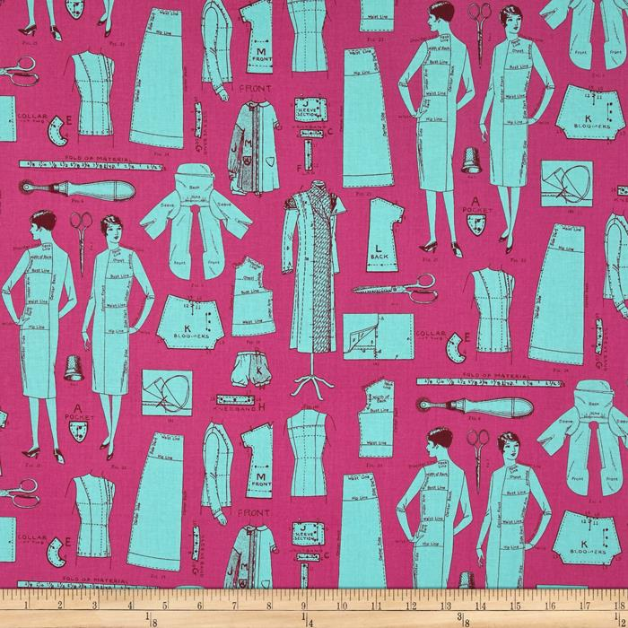 Vintage Modern Dress Pattern Turquoise