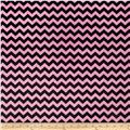 Minky Mini Chevron Bubblegum Pink/Black