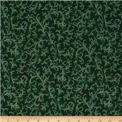 Pear Tree Greetings Metallic Foulard Evergreen/Silver