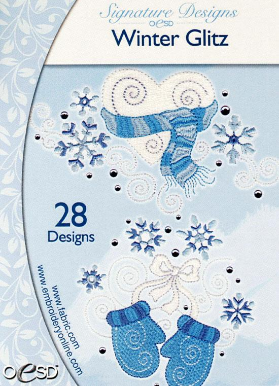 OESD Machine Embroidery CD Winter Glitz