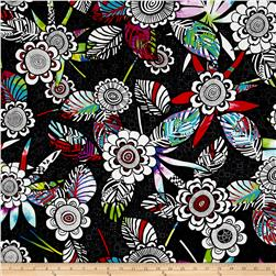 Contempo Anything Goes Floral Black