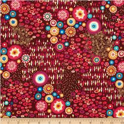 Aurelia Abstract Metallic Red