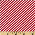 Timeless Treasures Hey Sailor 1/8'' Bias Stripe Red