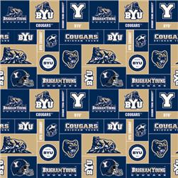 Collegiate Fleece Brigham Young University Blocks