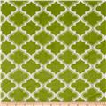Minky Moroccan Tile Apple Green