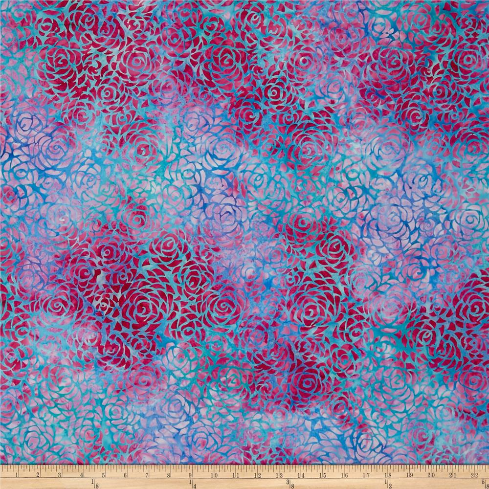 Anthology Batik Rose Petals Pink/Blue