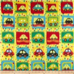 Fleece Print Cars Yellow/Red/Green