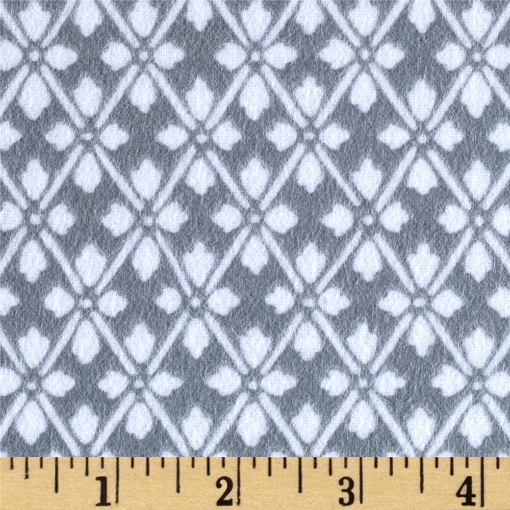 Kanvas Knitty Kitty Flannel Diamond Knit Gray