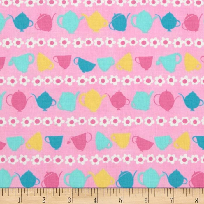 Tea Party Teacup Stripe Pink