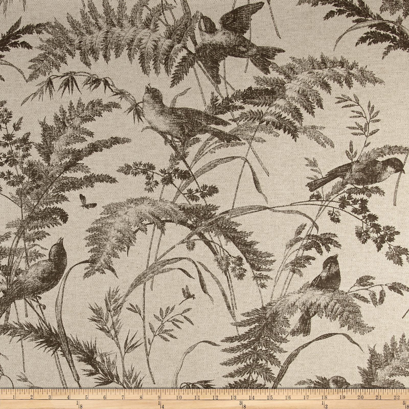 Lacefield Bird Toile In Heavy Basket Fabric by Lacefield in USA