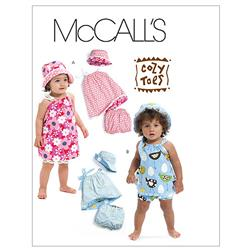 McCall's Infants' Reversible Dresses, Panties and Hat Pattern M6058 Size OSZ