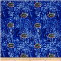 Collegiate Cotton Broadcloth University of Florida Tie Dye Print Navy