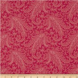 M For Mystery Large Tonal Paisley Pink/Red