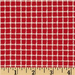 Cock-A-Doodle-Doo Plaid Red/Cream