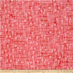 Bali Batiks Handpaints Grid Bubblegum