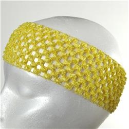 "2 3/4"" Crochet Headband Light Yellow"