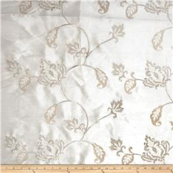 Fabricut Subra Embroidered Dupioni Off White