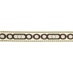 1-1/4'' Decorative Trim Circles Ivory/Chocolate