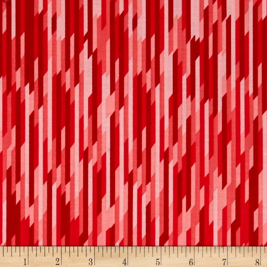 Riley Blake Desert Bloom Stripe Red