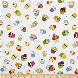 Let's Celebrate Party Cupcakes White/Multi