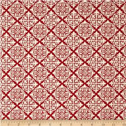 Moda El Gallo Damask Tile Red