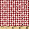 Woven 1/8'' Daisy Gingham Red