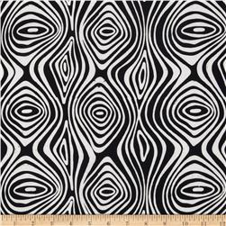 Artisan Batiks Pop Op Tree Ring Black Fabric