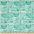 Wilmington Under the Ocean Blue Word Texture Aqua