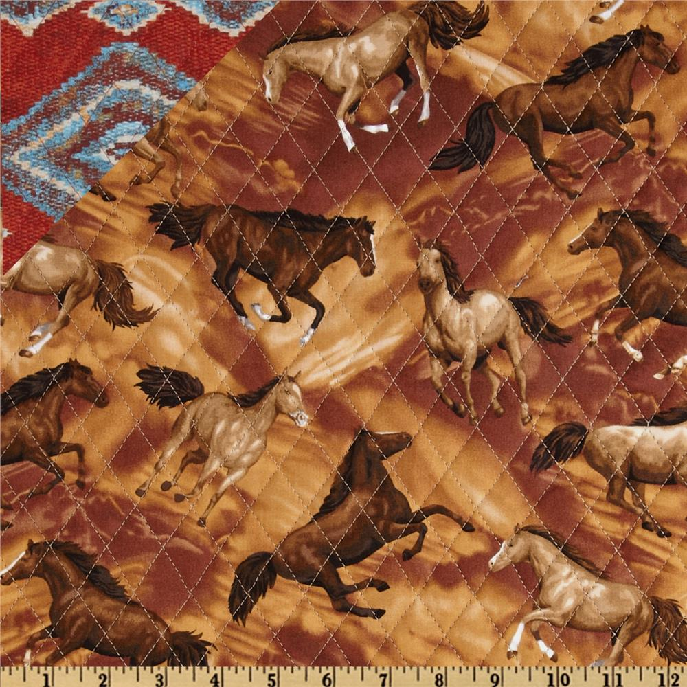 Round Up Double Sided Quilted Indian Blanket Multi