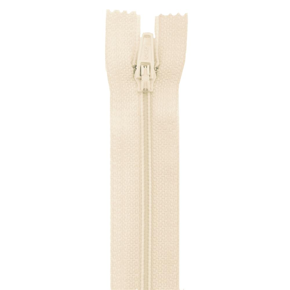 18'' Poly All Purpose Zipper Natural