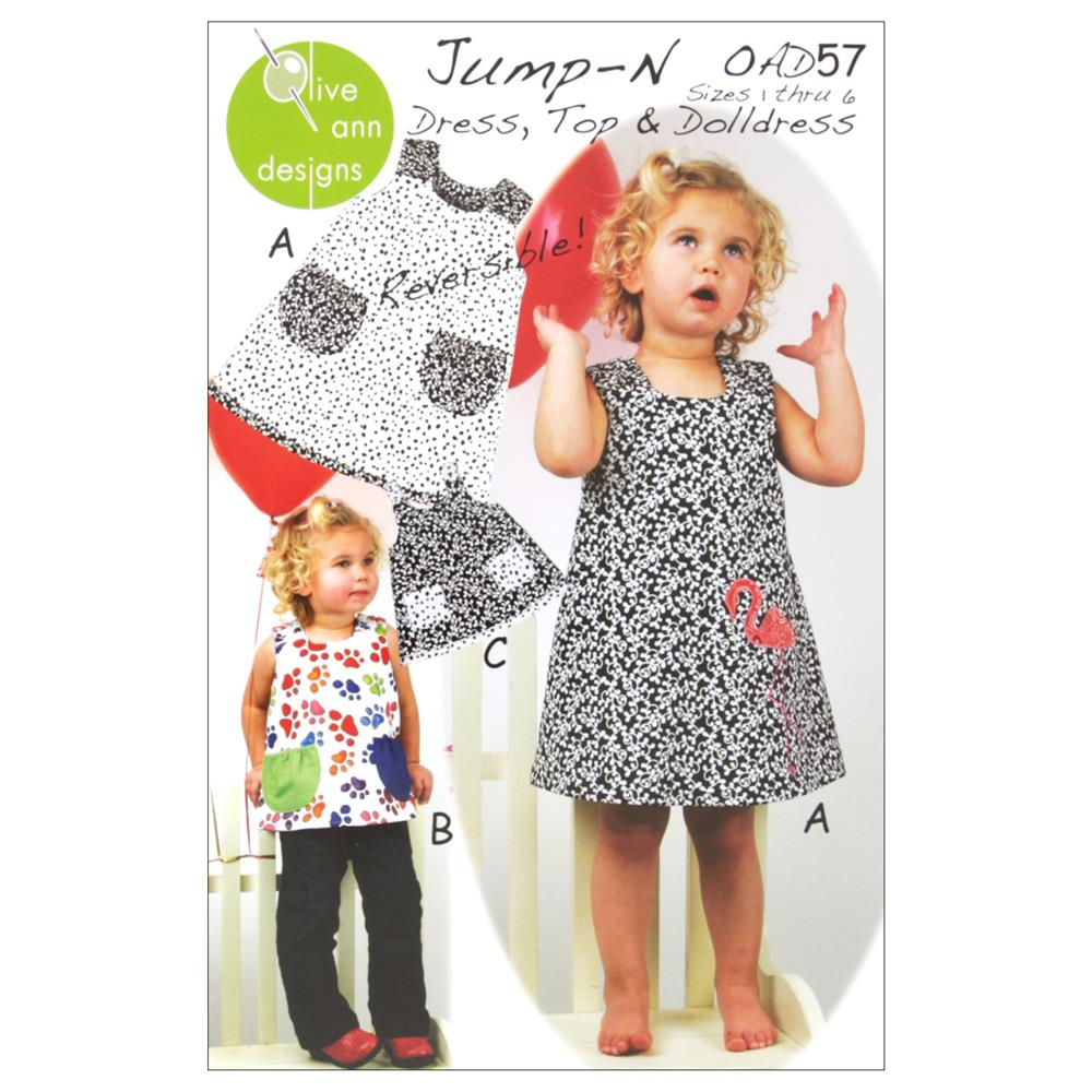 Olive Ann Designs Jump-N Dress & Jumper Pattern