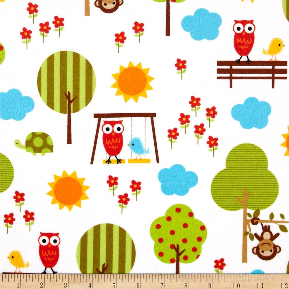 Urban Flotologie Flannel Animals In Trees Wild