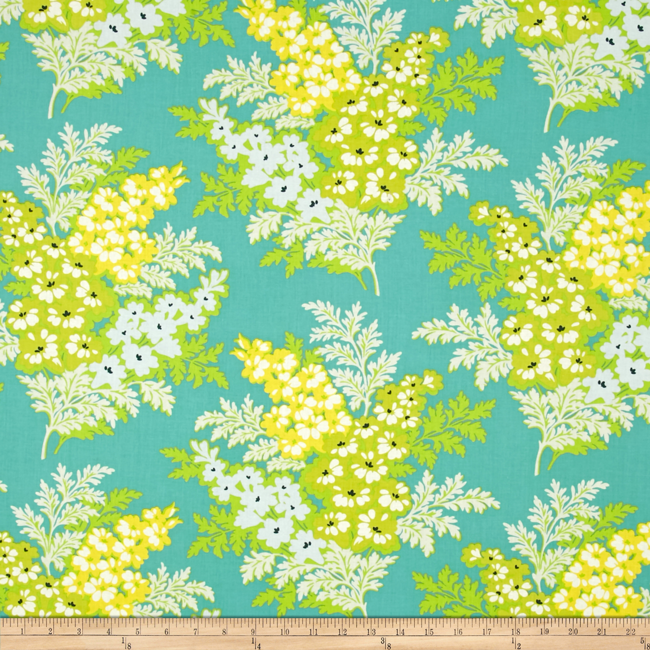 Heather Bailey Nicey Jane Picnic Bouquet Lagoon Fabric by Westminster in USA