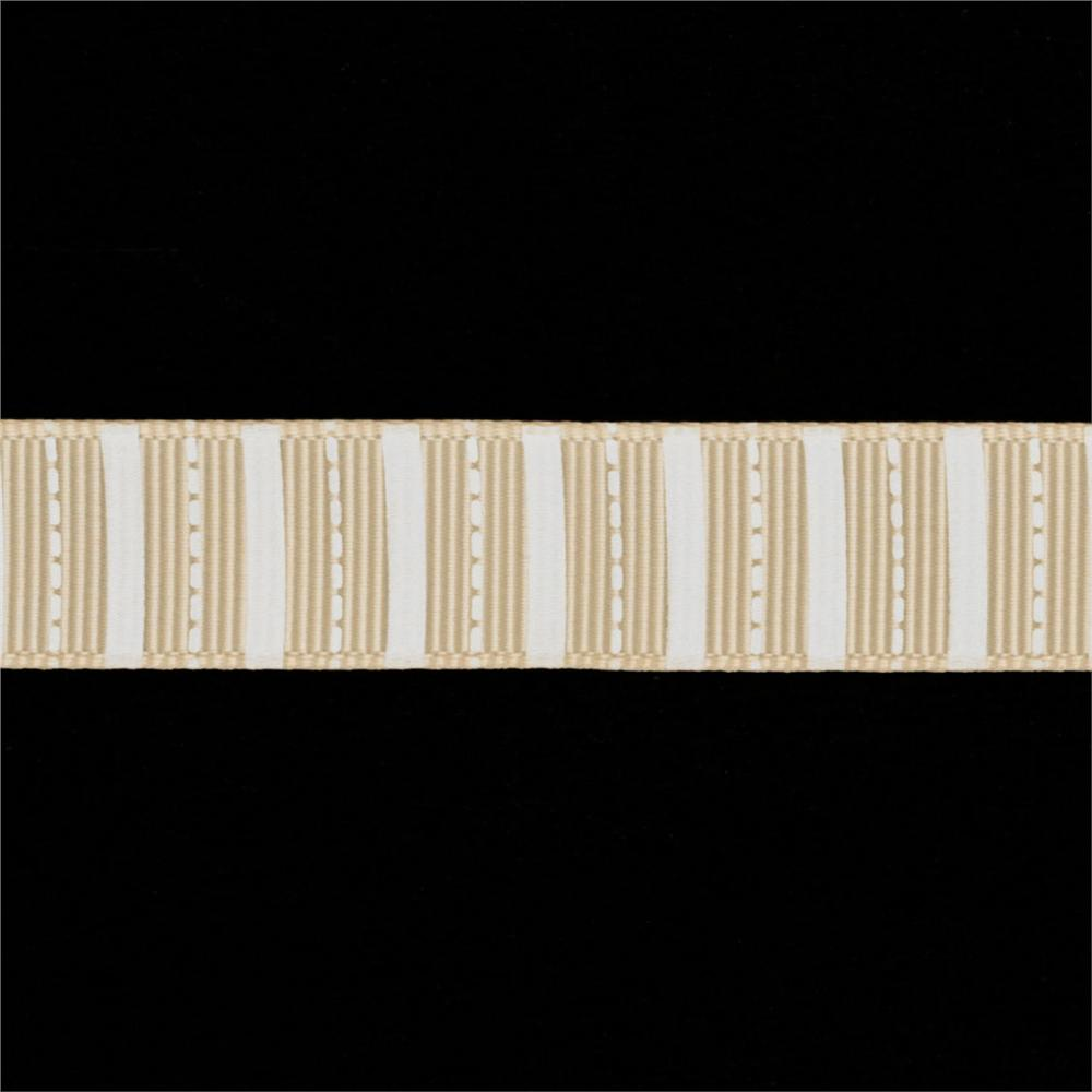 "Riley Blake 5/8"" Grosgrain Ribbon Stripes Cream"
