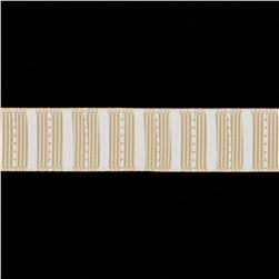 Riley Blake 5/8'' Grosgrain Ribbon Stripes Cream