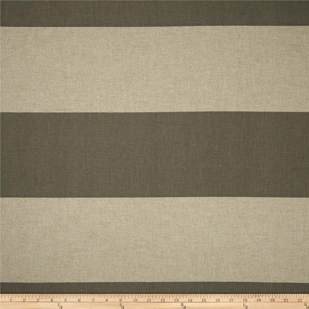 Premier Prints Cabana Stripe Blend Summerland Grey
