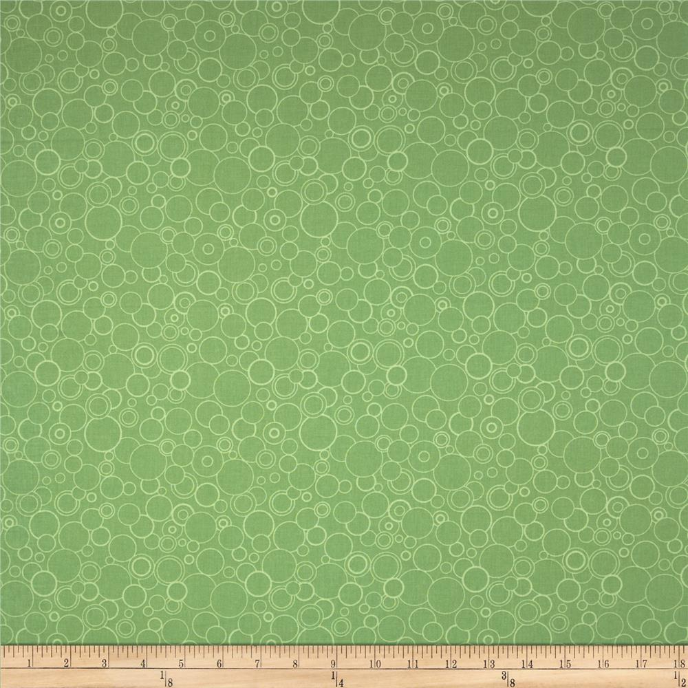 Poppy Panache Circles Green