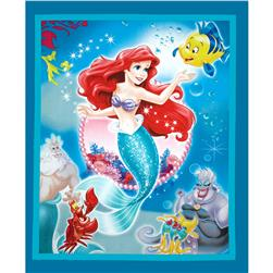 Disney Princess Movie Little Mermaid 36'' Panel Turquoise