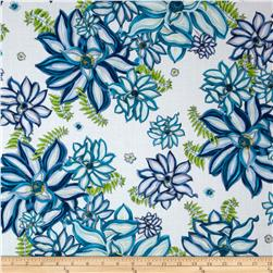 Paradise Large Spaced Floral White Fabric