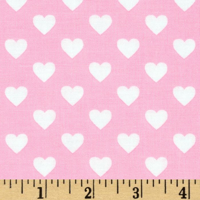 Michael Miller It's A Girl Thing Hearts All Over Hearts Pink