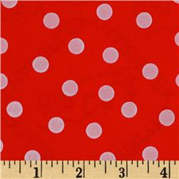 Oil Cloth Polka Dot Red/White