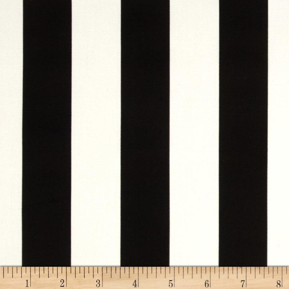 Harlequin Stretch Cotton Sateen Bold Stripes Black/White